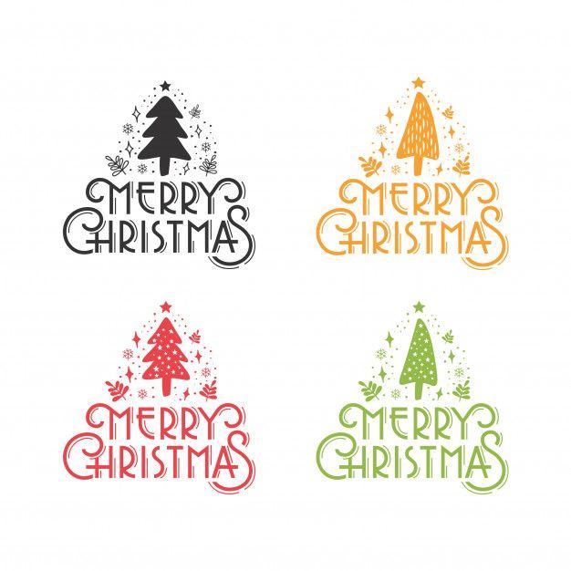 Merry Christmas Rustic Pine Tree Greeting Set In 2020 Merry Christmas Vector Merry Christmas Text Merry Christmas