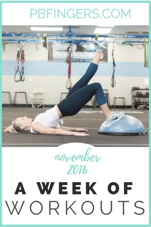 A glimpse into one personal trainer's one week workout plan with a combination of lower body, upper body, total body and cardio workouts.