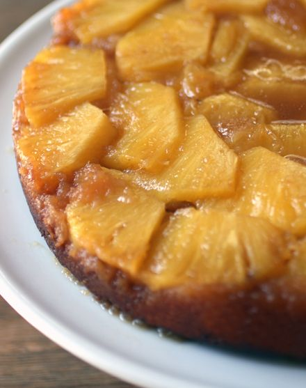 Thomas Keller's Pineapple Upside-down cake. This recipe is a winner. I wish I made two because it went fast.