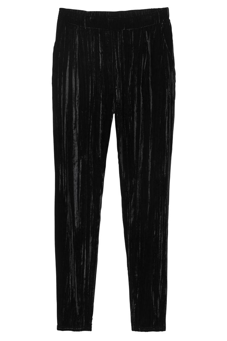 Monki | Trousers | Mina velvet trousers