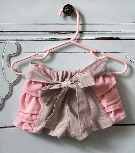 Free Sewing Tutorial over at see kate sew for some adorable girls ruffle shorts