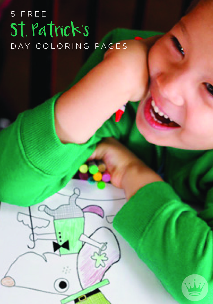 Need a fun, hassle-free activity to share with your kids on St. Patrick's Day? Your little leprechauns will love these festive (and FREE!) coloring pages. Print 'em out, grab the green crayons, and hang their masterpieces on the fridge when they're all done!