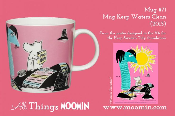 71 Moomin mug Keep Waters Clean