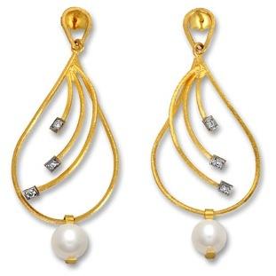Earrings Yellow 14k Gold  Made in greece  Parthenon Greek Jewelry