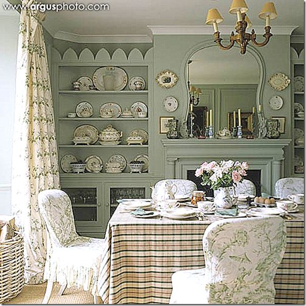 Small Cottage Dining Room Ideas: Bowood Curtains And A Scalamandre Toile