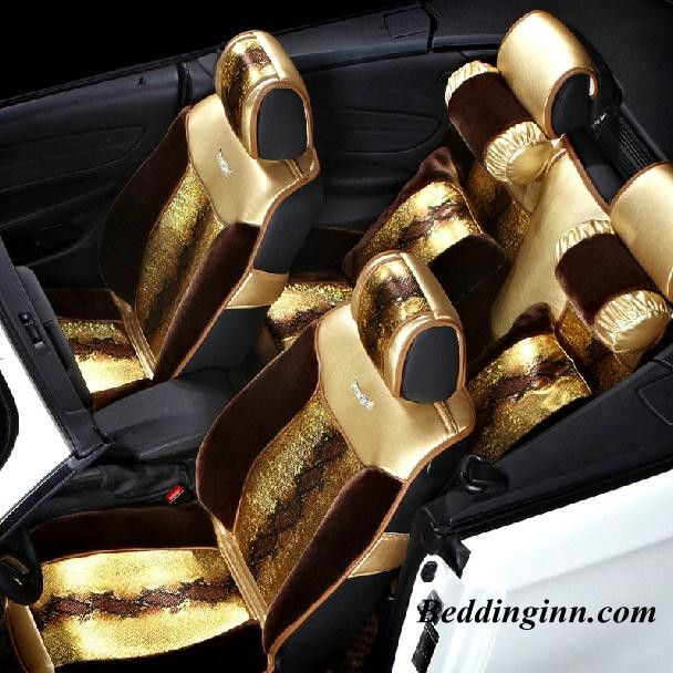 Fashion Golden Carseatcover Super Soft Luxury Gold Color Seat Covers Buy Link