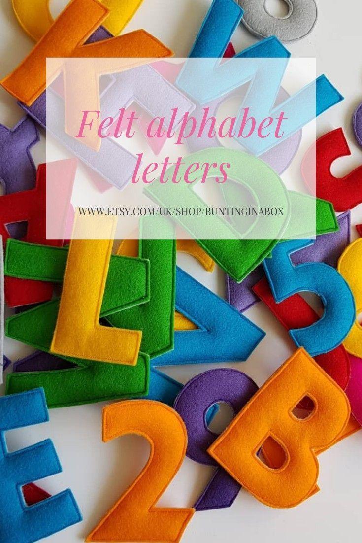 Felt Alphabet Letters Felt Letters Rainbow Alphabet Abc Colourful Alphabet With Images Lettering Alphabet Felt Letters Rainbow Decorations