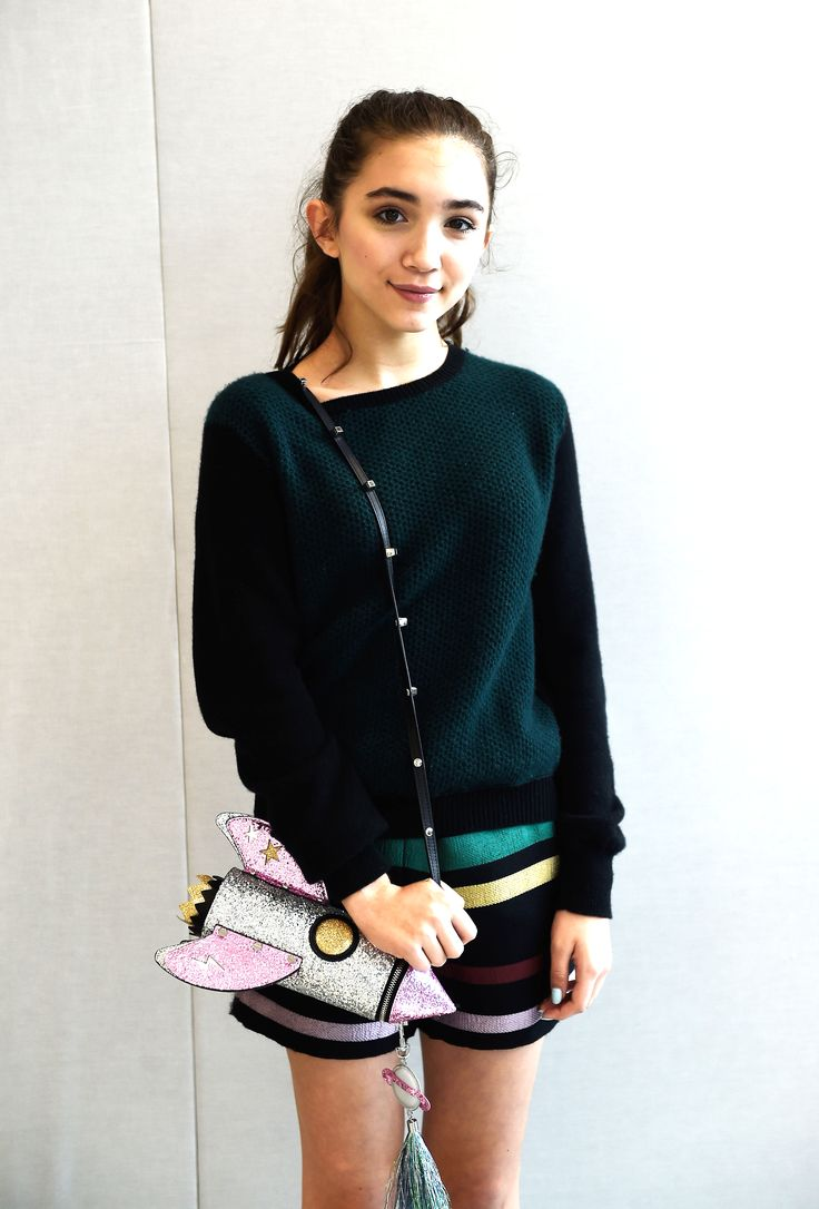 Rowan Blanchard's rocket purse is too die for.