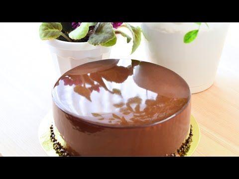 Зеркальная глазурь из какао ☆ Mirror Glaze cocoa - YouTube