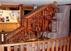 Photo: Model of Stamp Mill at California Mining and Mineral Museum