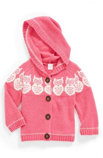 Nordstrom Baby Fair Isle Knit Hoodie (Baby Girls) available at #Nordstrom