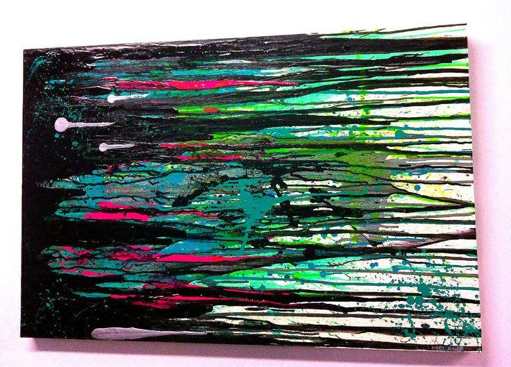 'Black Rain' by Melanie Roberts. #Abstract #Modern #Contemporary Art