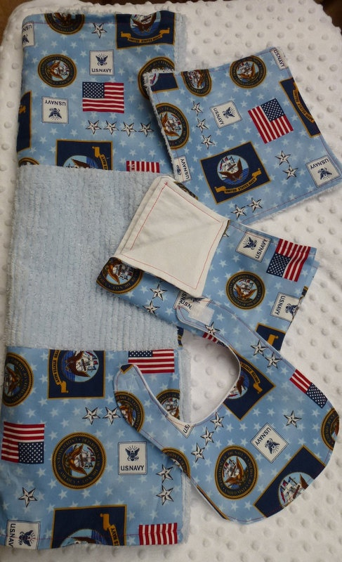 US Navy  Welcome Baby Set by DragonflyDarlin on Etsy, $37.50