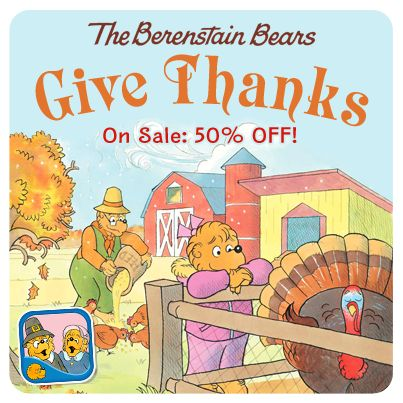 "#OMAppNews Just in time for the Holidays, ""The Berenstain Bears Give Thanks"" is on sale for 50% OFF! Grab it from the App Store: https://itunes.apple.com/us/app/berenstain-bears-give-thanks/id404118797?mt=8"