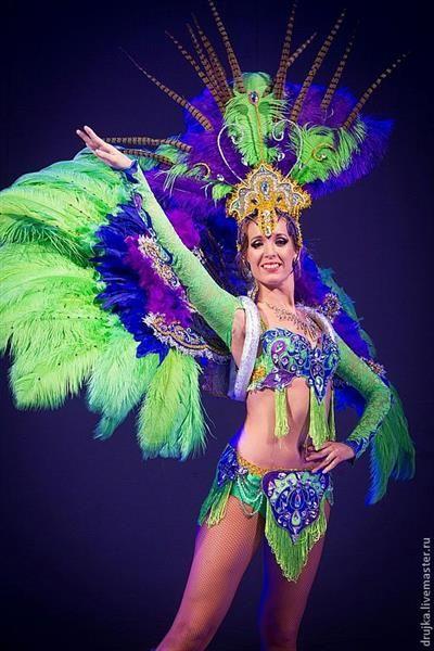 Костюм для бразильского танца с перьями купить