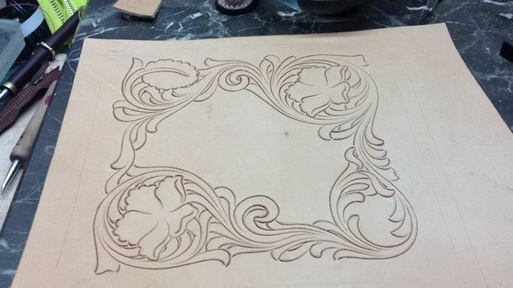 Leather tooling carving patterns leathercraft pattern