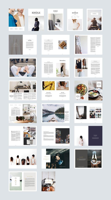 Kindle Magazine on Behance | Look Book