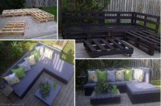 DIY patio furniture - Home and Garden Design Idea's