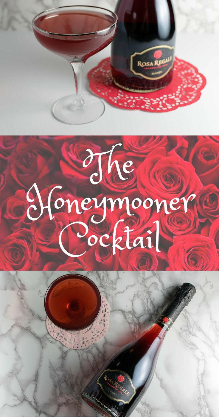 Cocktails | Epcot | Reminiscent of their Honeymoon at Epcot, The Honeymooner Cocktail featuring Rosa Regale reminds drinkers that every day can be a Honeymoon! 2geekswhoeat.com