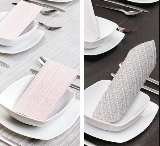 Arreda con stile: tovaglioli damascati in diversi colori per colorare qualsiasi tavola.