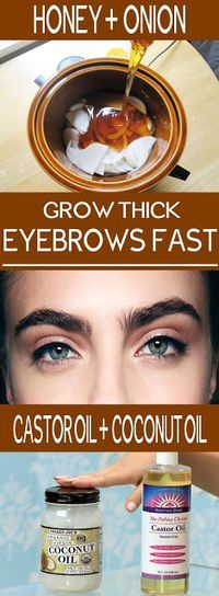 USE THESE 2 INGREDIENTS HOME REMEDIES AND GROW YOUR EYEBROWS FASTER.