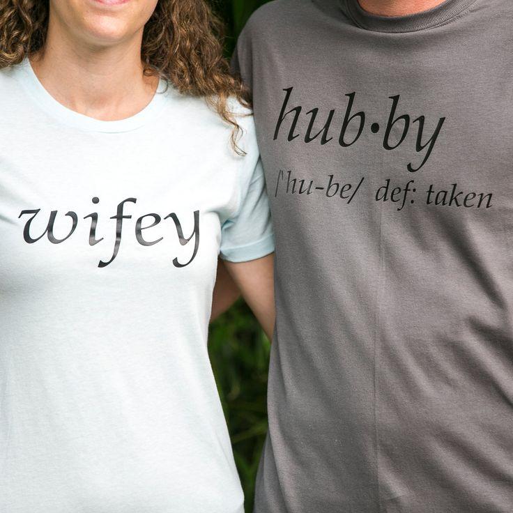 Hubby Wifey Shirts, Wifey Hubby Shirts, Couples Shirts, Anniversary Shirts, Wedding gift, Hubby Wifey definition Shirts, Hubby definition by TraceysTrendyVinyl on Etsy