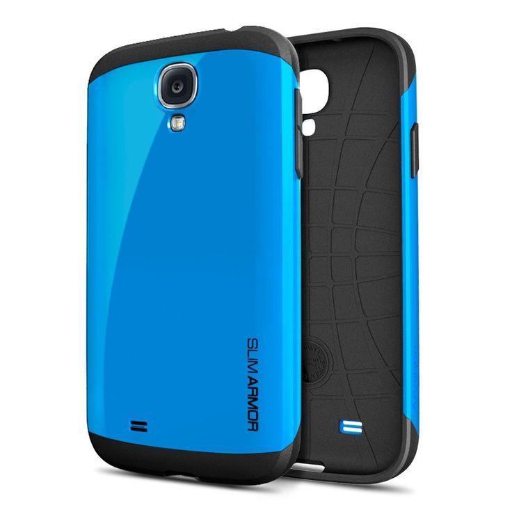 Samsung Galaxy S4 Mavi Slim Armor Kılıf