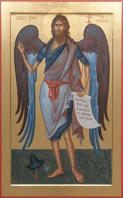 ростовая икона святого Иоанна Крестителя (вариант 7)