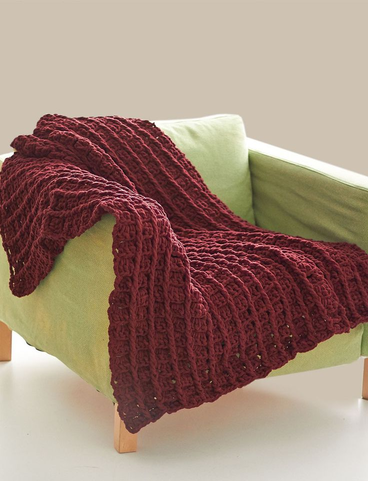 Free Crochet Pattern Bernat Blanket Yarn Bricks Blanket