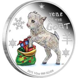 Cute baby animal coin provides a charming way to mark the Lunar Year of the Monkey | Baby Goat 2015 1/2oz Silver Proof Coin