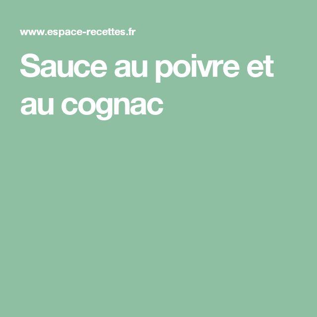 Sauce au poivre et au cognac