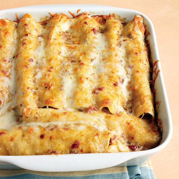 Low calorie chicken enchiladas recipe.