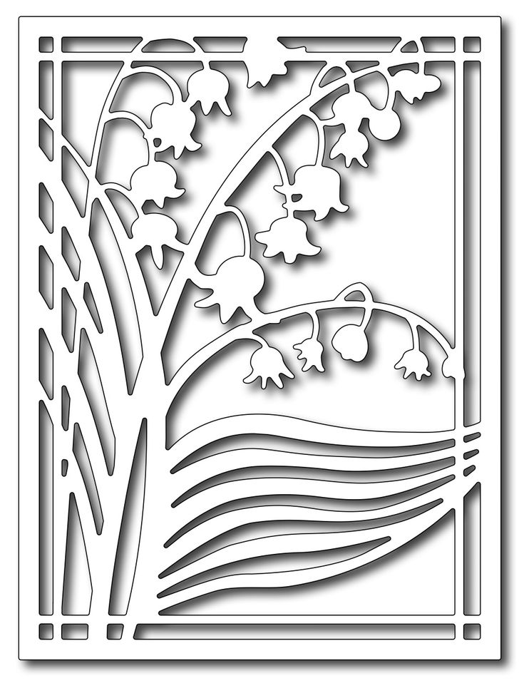 *PRE-ORDER*  Frantic Stamper Precision Die - Lily of the Valley Card Panel,$24.99- I must have!!!
