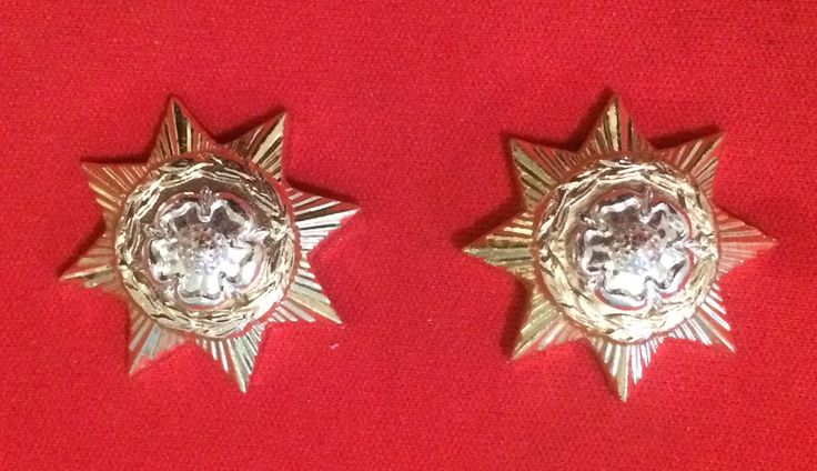 Prince of Wales Own Regiment of Yorkshire Anodised (Staybrite) Collar Badge