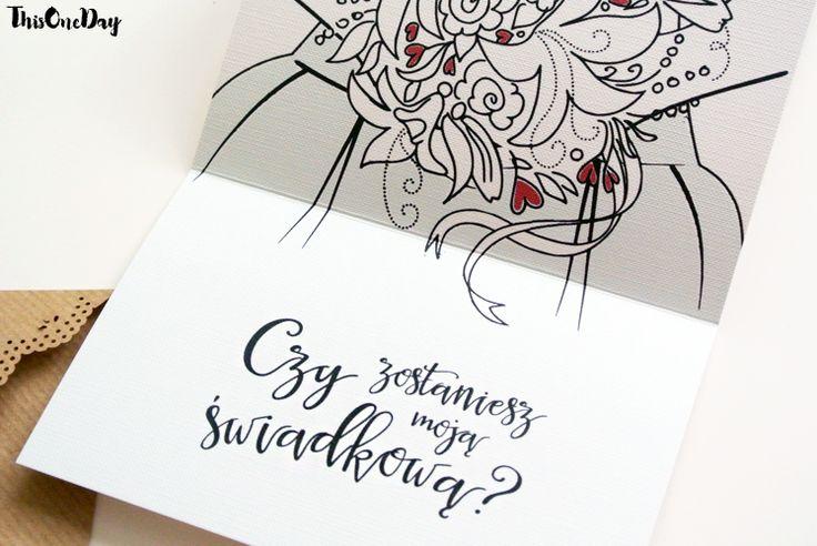 Kartka-zaproszenie dla świadkowej - ThisOneDay - Zaproszenia ślubne
