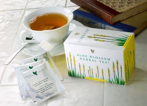 Aloe Blosom herbal tea, simplemente el te de hierbas mas fino que hay, Contiene canela, jengibre, manzanilla, florde sabila, pimienta de jamaica. Desestresante, digestivo y diuretico, libre de cafeina y 0 calorias.