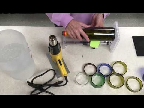 How to cut 3 circles in glass quick and safe in under a minute - YouTube