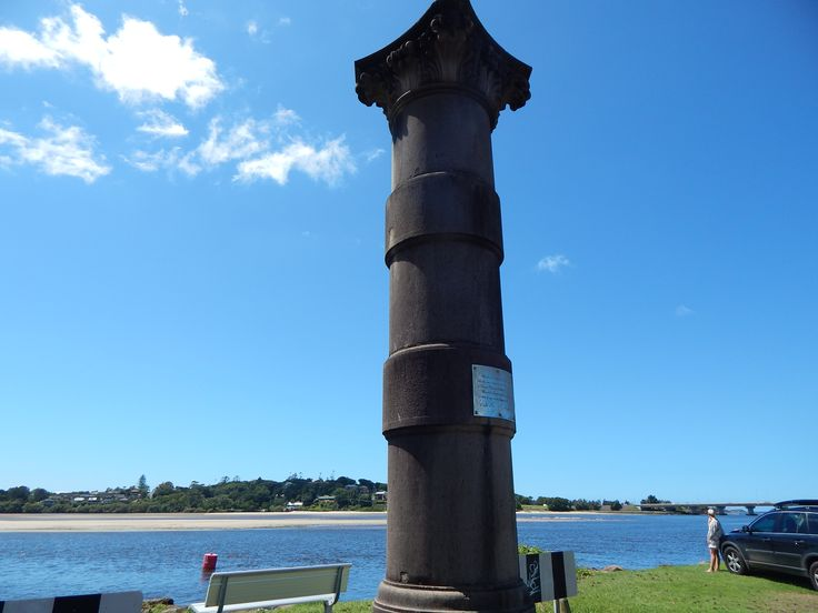 A bit of crazy in Ballina.. The inscription on this gothic column reads ''The inscription reads: 'This hand sculptured Moruya granite column was erected in 1897 at the entrance to the Queen Victoria building, Sydney. Moved to Lismore following alterations in 1916 it was erected here in 1961..But Why???   This column stands beside the Richmond River in central Ballina at the end of Owen street,