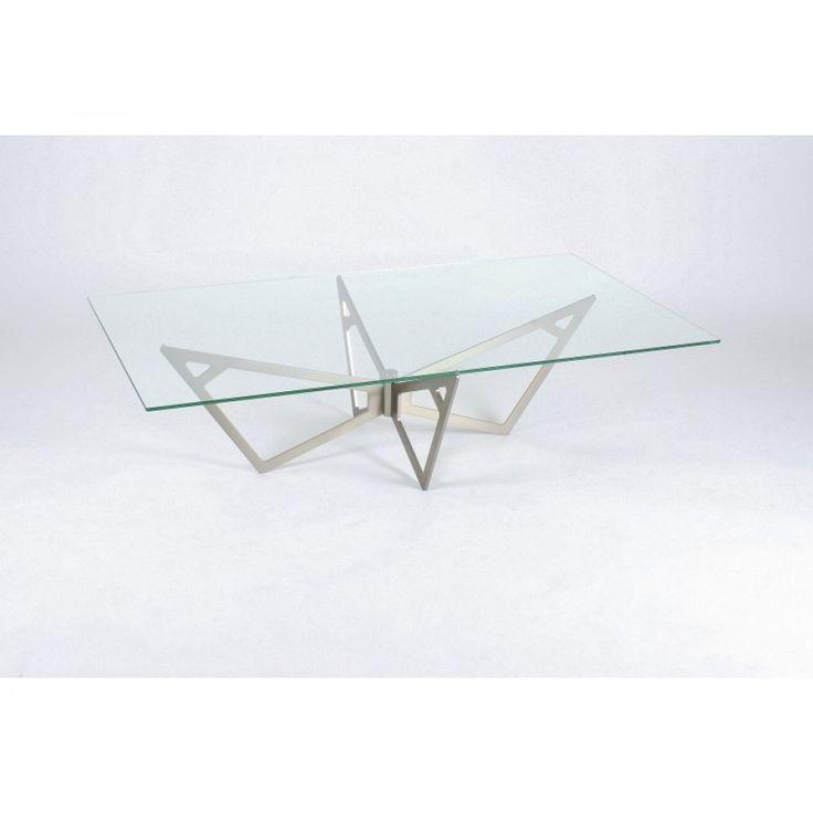 glazentafel.com | Deze hardglazen salontafel Piacenza is gemaakt van helder glas met een sierlijke frame in geborsteld roestvrij staal (RVS). U kunt het blad van deze design salontafel ook bestellen in een ronde of ovale vorm.