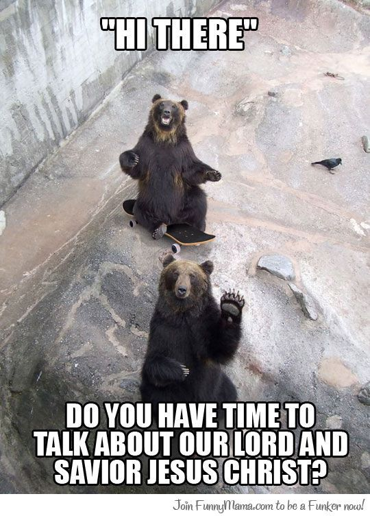 Jehovah witness bears...