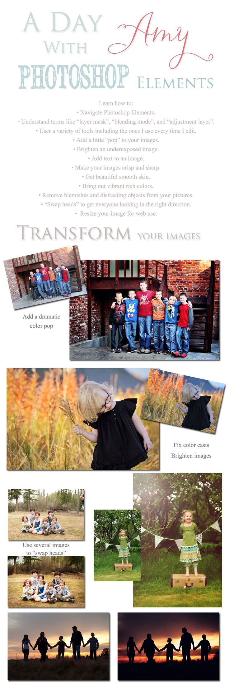 How to fix color cast in photoshop elements - A Day With Amy Photoshop Elements Online Simply B Photos
