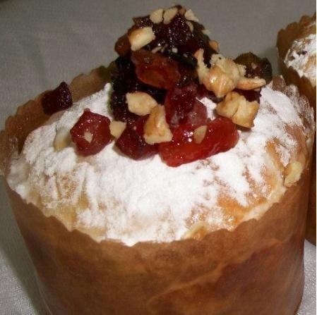 Pan dulce navideño en microondas