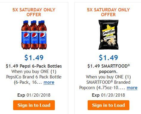 Pepsi 6 Pack 16.9 fl oz and 4.75-10oz Smartfood Popcorn for $1.49 at Kroger on 01/20 Only (Kroger 5X's Digital coupons) – Frugal Harbor