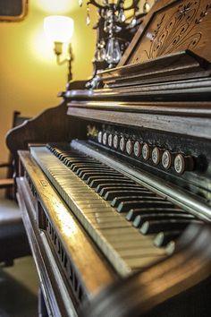 ピアノ, オルガン, アンティーク, 音楽, 楽器, キーボード, 古典的な, キー, 再生, サウンド