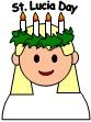 "Free St. Lucy Printables: Bingo Dauber  (Do-A-Dot) page, Playdough mat for  Lussekatter (Laminate the pretty St. Lucia Bun Tray and let kids use as a guide to make Playdough ""buns"") and a toilet paper roll St. Lucy craft for preschoolers."