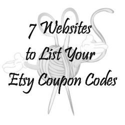 7 Websites to List Your Etsy Coupon Codes