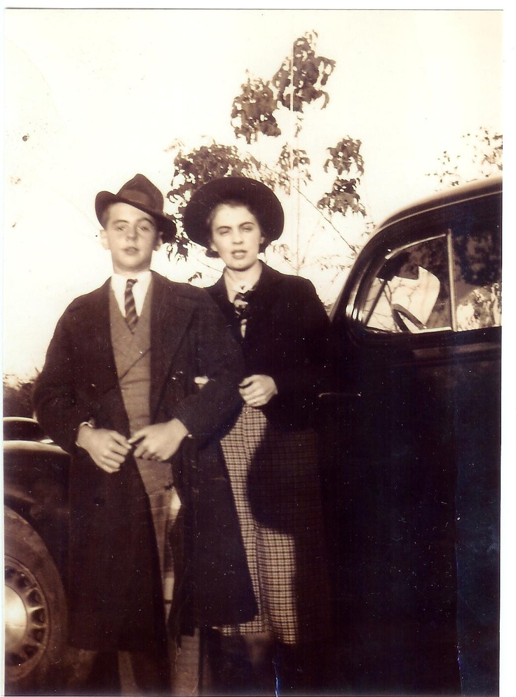 My dad, George Foulkes, with his mother, Katy, circa 1937.