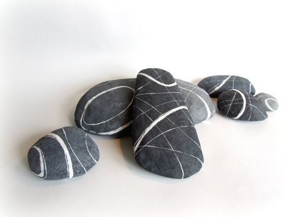 Set of 3 decorative stones Compositions for the by Sognoametista