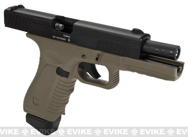 APS ACP Full Metal CO2 Powered Airsoft GBB Gas Blowback Pistol with Extra Magazine - Dark Earth ...