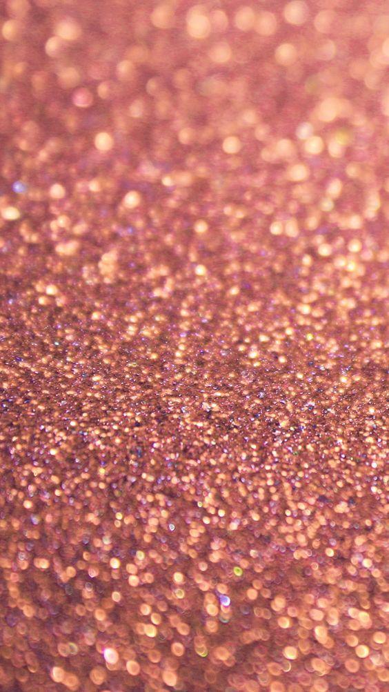 Rose gold glitter sparkles iPhone 6 wallpaper: